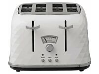 De'Longhi Brillante 4 Slice Toaster - White new