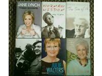 Biographies x 6 BRAND NEW NEVER READ