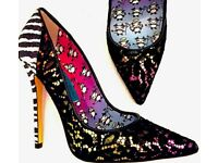JIMMY CHOO 'Anouk125' designed by Artist Rob Pruitt in size UK 5, new and boxed