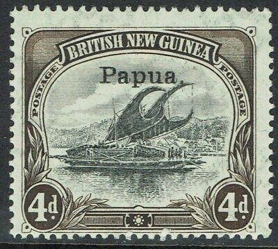 PAPUA 1907 LAKATOI OVERPRINTED SMALL PAPUA 4D VERTICAL WMK