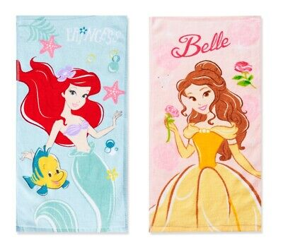 aid Belle Towels Bath Face Cloth Cleaning Cute Gift Girl New (Disney Princess Belle Face)