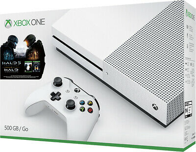 Microsoft Xbox One S 500GB Halo 5 Console 4K UHD Game System Bundle XB1S 1681