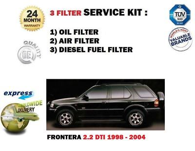 pour Opel Frontera 2.2 DTI 1998-2004 Kit Entretien CARBURANT air huile (3)