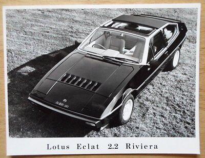 LOTUS Eclat Riviera 2.2 original 1981 Press Photo - brochure related