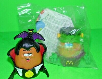 x2 Vintage  McNuggets Halloween Buddies Figures~1990s McDonalds  MINT ONE IN BAG ()