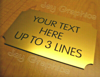 Custom Engraved 3x5 Gold Business Suite Sign Home Office Small Wall Door Plaque