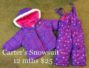 Snowsuits (6 and 12 mths)