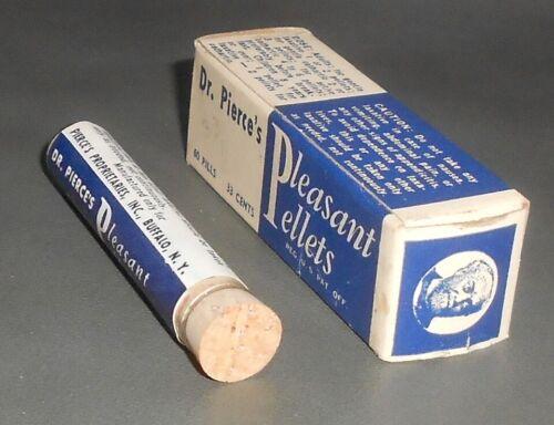 c1930 Antique Medicine Bottle in Box Dr. Pierce