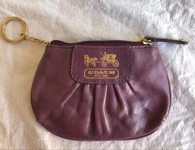 Genuine Little Coach Ladies Money Wristlet coin Purse Beautiful Purple Look
