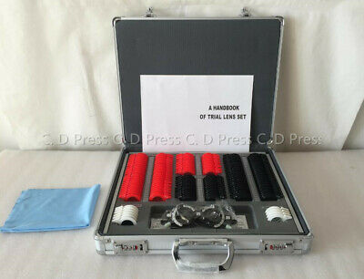 US 104 Pcs Plastic Rim Optical Trial Lens Set Aluminium Case+1 Pc Trial Frame for sale  USA