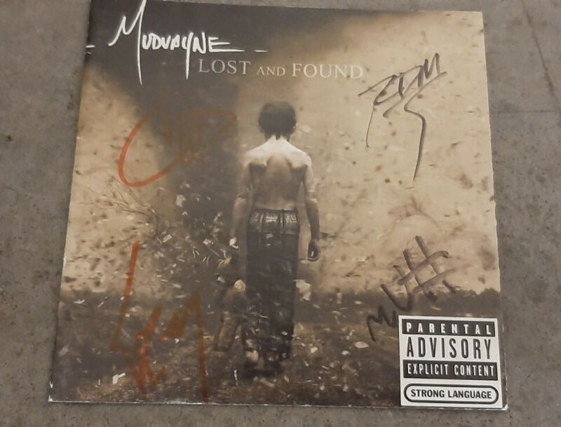 Mudvayne Autograph Full Band Signed Lost And Found Booklet Only Chad Grey Metal