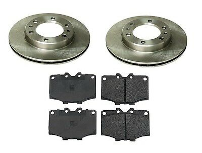 Toyota Land Cruiser 75-89 L6 Front Brake Kit With Rotors And Semi Metallic Pads on Sale