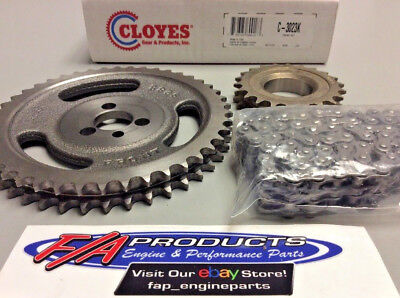 Small Block Chevy Engine Double Roller Timing Set Cloyes C-3023K Engine Block Seal