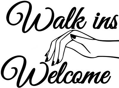 Beauty Bar Salon - nail bar salon nails beauty walk ins welcome shop window sign wall art sticker