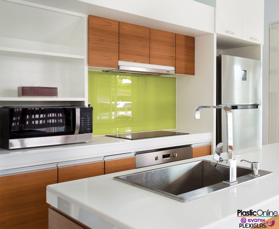 Pistachio Green Plastic Perspex Acrylic Kitchen Bathroom