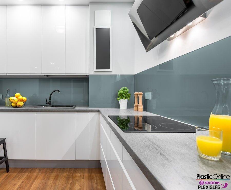 Ocean Grey Plastic Perspex Acrylic Kitchen Bathroom