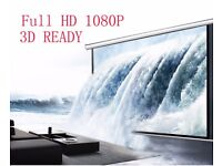 Projector screen 72 inch , remote control , motorised brand new BOXED, XMAS