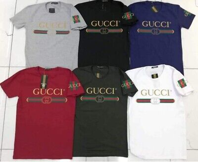 Men`s T-Shirts Gucci Logo Black, White