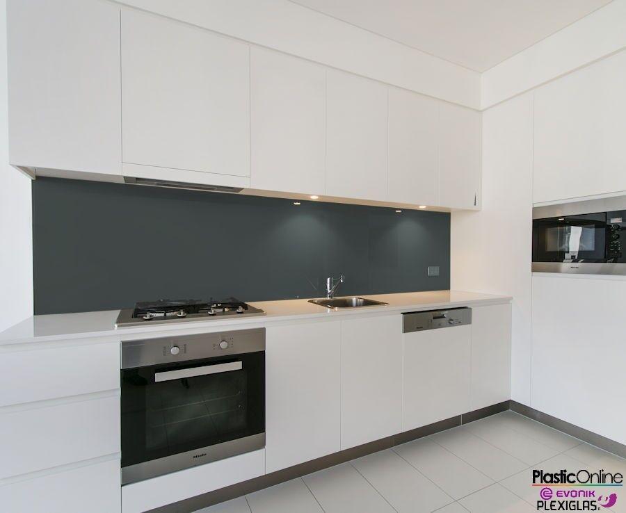 Anthracite Grey Plastic Perspex Acrylic Kitchen Bathroom