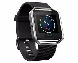 Fitbit Blaze Smartwatch Black - Large - Stainless Street Frame - Black Band