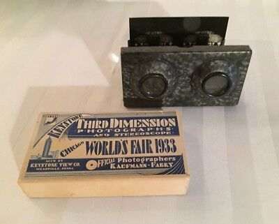 Keystone Third Dimension Photographs & Stereoscope Century of Progress 1933