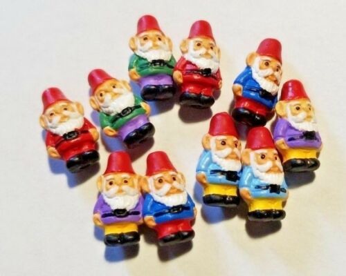 Set Mini Peruvian Ceramic Gnome Beads Lot of 5 OR 10 OR 20 Mix Red Blue Green