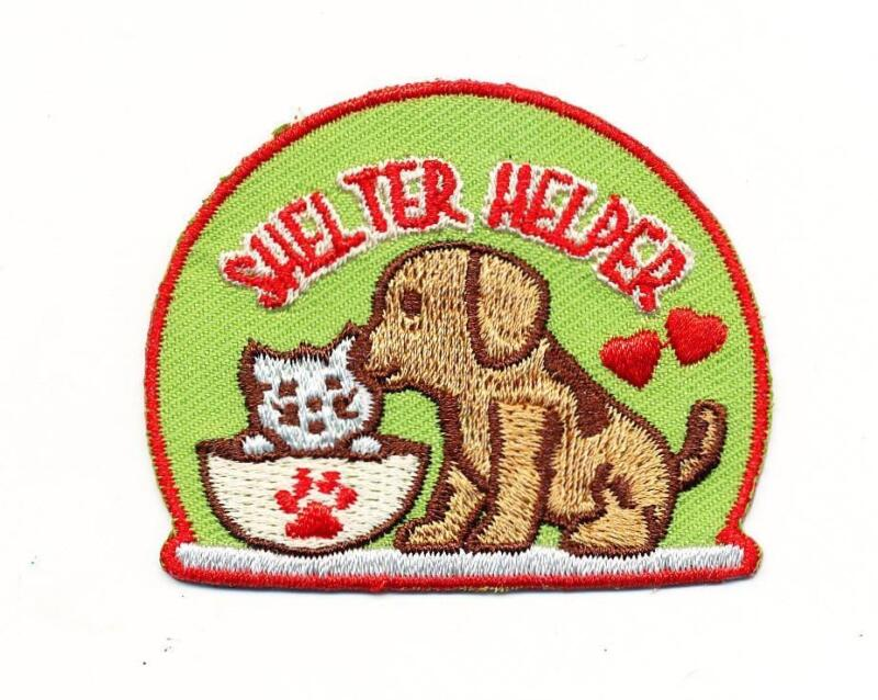 Girl Boy Cub SHELTER HELPER visit tour animal Patches Crests Badges SCOUT GUIDE