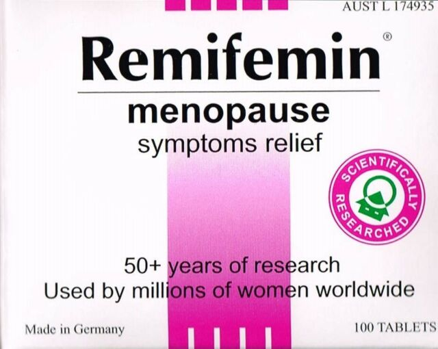 =>PRICE SMASH REMIFEMIN 100 TABLETS, MENOPAUSE SYMPTOMS RELIEF, HOT FLUSHES