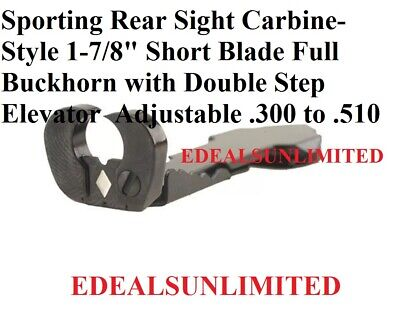 Sporting REAR SIGHT Carbine Style FULL BUCKHORN fits WINCHESTER MARLIN  3/8 (Sporting Rear Sight)