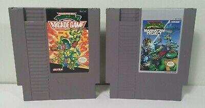 NES Teenage Mutant Ninja Turtles 2&3 The Manhattan Project, Arcade Nintendo LOT