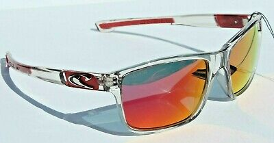 O'NEILL Convair POLARIZED Sunglasses Crystal Clear/Red Mirror $79 Surf/Beach
