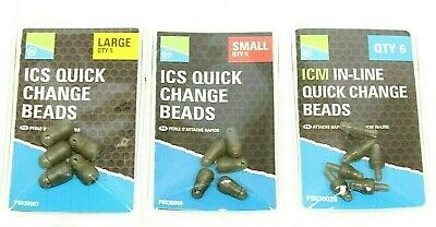 PRESTON INNOVATIONS ICS QUICK CHANGE BEADS / ICM IN-LINE BEADS - CHOOSE SIZE