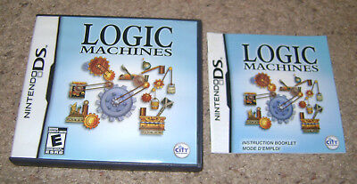 Logic Machines Case & Instruction Manual NO GAME Nintendo DS Authentic/Original