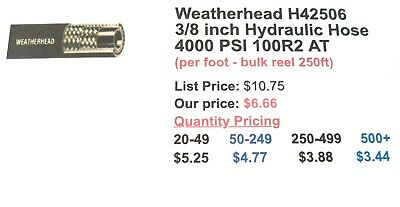 H42506 38 Inch Hydraulic Hose 4000 Psi 100r2 At - Per Foot