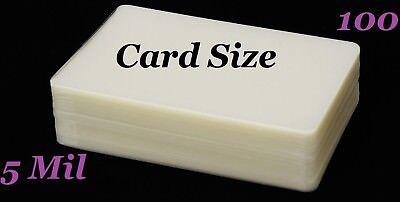 Card Size Hot Laminating Laminator Pouches Sheet 100 Pc 5 Mil 2.56 X 3.75 Sleeve