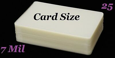 Card Size 25 Pk Hot Laminating Pouches Laminator Sheets 7 Mil 2-14 X 3-34