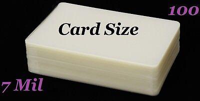 Card Size 100 Pk Hot Laminating Laminator Pouches Sheets 7 Mil 2-14 X 3-34