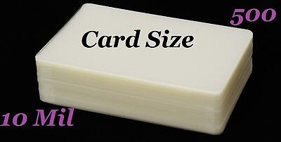 Card Size 500 10 Mil Hot Laminating Laminator Pouches 2-58 X 3-78 Sleeves