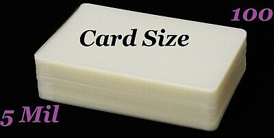 Card Size 100 Pk Hot Laminating Laminator Pouches Sheets 5 Mil 2-14 X 3-34