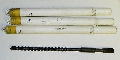 3x Vintage Driltec 1116 X 16rotary Drill Bit Spline Shank Ansi West Germany