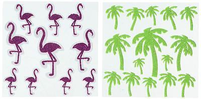 Darice Glitter Flamingos Palm Trees Foamies (Darice Foamies Stickers Glitter)