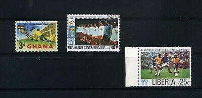 FUTBOL OF GHANA/59-  CENTRAFRICAINE>SPAIN/ 82  ,>LIBERIA.>ARGENTINA/78,-  {3}