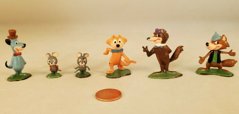 Marx Tinykins Hanna-Barbera Miniatures Huckleberry Hound Lot (Hand Painted 1961)