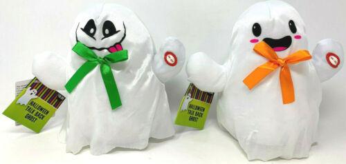 (2) Halloween Talk Back Ghost New w/ Tags Orange & Green Ribbon Bow