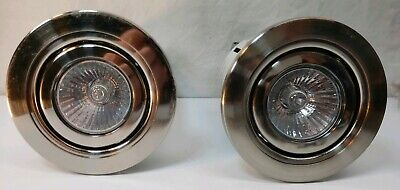 Two 3 Recessed Light Kit With Swivel Trim 50 Watt Bulbs Remodelers Non-ic Can