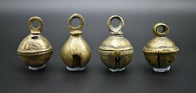 Group of 4 antique Near Eastern brass bells