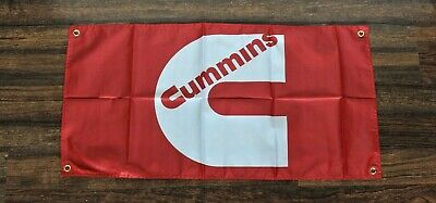 Cummins Banner Flag 1.5' x 5'  Red Truck Turbo Diesel Car Repair Shop Garage New for sale  Shipping to Canada