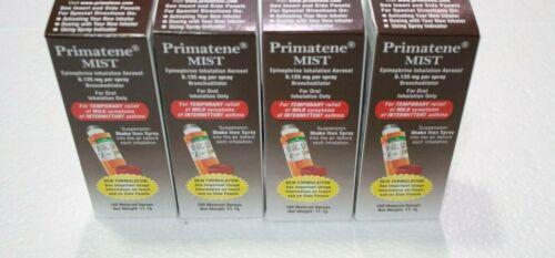 4x Primatene Mist Epinephrine Inhalation Aerosol Bronchodilator 160 Sprays
