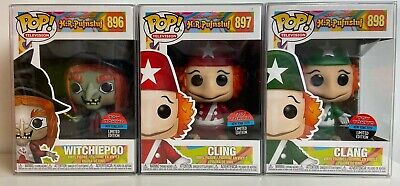 Funko Pop Toy Tokyo H.R. Pufnstuf  Clang, Cling and Witchiepoo Set w/Protectors