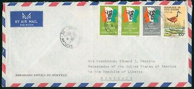 Mayfairstamps Cote d Ivoire to Ambassador USA Flag With Elephant Block Bird Cove